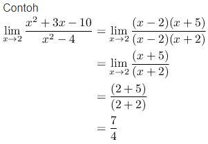 Contoh Limit 0