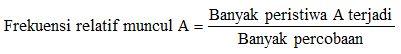 Rumus Frekuensi Relatif