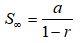 Rumus Jumlah Deret Geometri Tak Hingga
