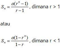 Rumus Jumlah Deret Geometri