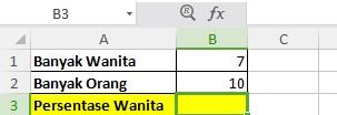 Contoh Rumus Persentase Excel