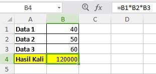 Rumus Perkalian Excel 2